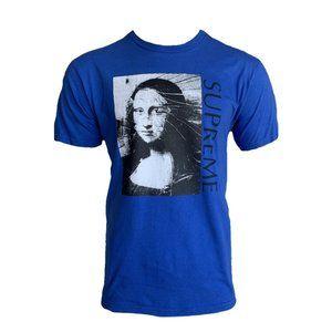 Supreme Blue/Multi Mona Lisa Graphic Tee T-Shirt L